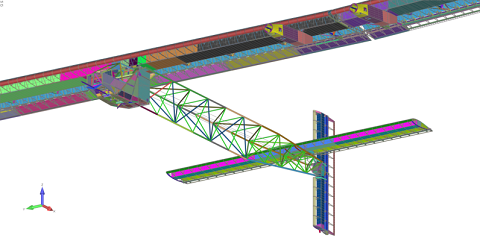 Femap helps keep weight down on solar-powered aircraft
